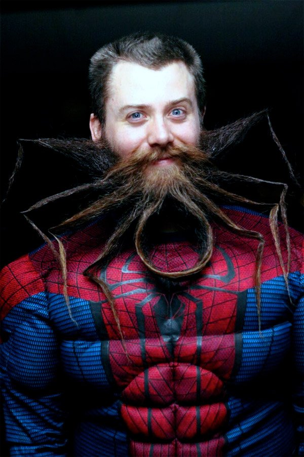 spiderman beard