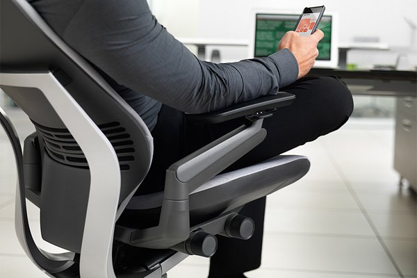 steelcase gesture chair smartphone tablet computer photo