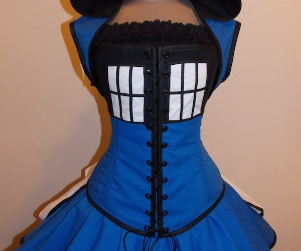 Mistress Who: Customizable Victorian Style TARDIS Dress