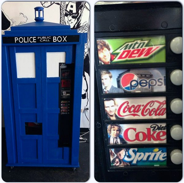 tardis soda machine