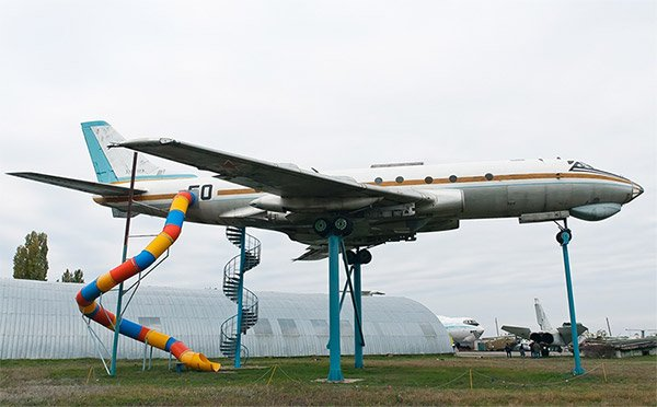 Coolest Playground Slide Ever is Attached to a Jetliner