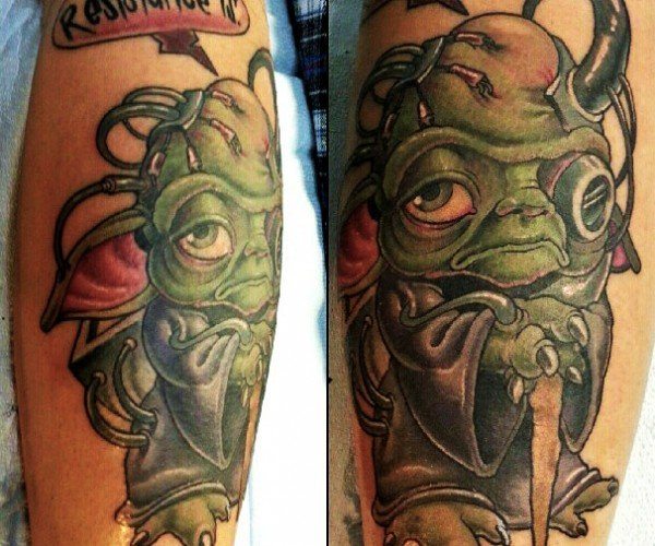 Borg Yoda Tattoo: Futile, Resistance Is