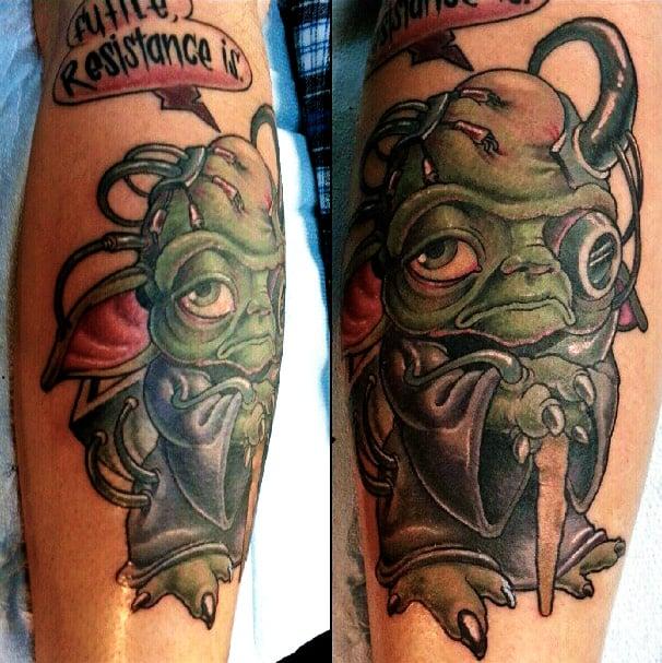 yoda tattoo