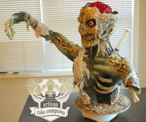 Awesome Zombie Cake: If I New You Were Comin', I'd Have Baked a Brain
