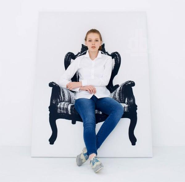 Canvas Wall Chair1