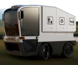 All-in-One City Sweeper Concept Truck Cleans Streets, Plows Snow, and Hauls Garbage Away
