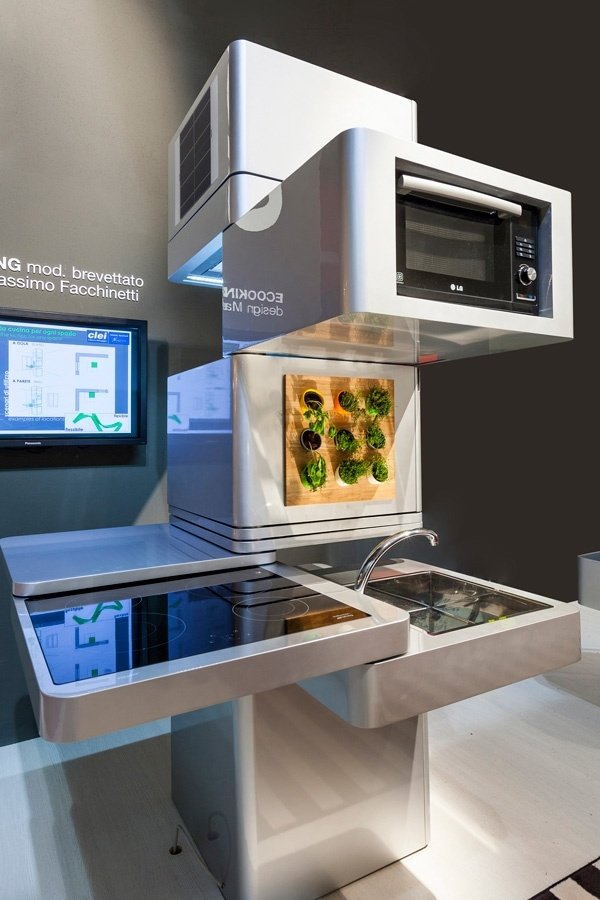 Ecooking is a Vertical, Modular Kitchen: Everything AND the Kitchen ...