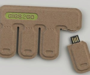 GIGS.2.GO: Portable Tear and Share USB Flash Drives