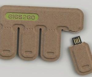 GIGS.2.GO: Portable Tear and Share USB Flash Drives