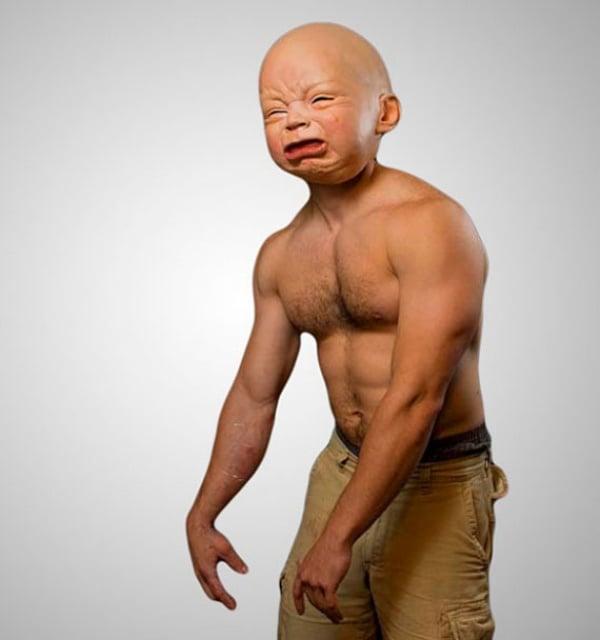 Lifelike Baby Mask