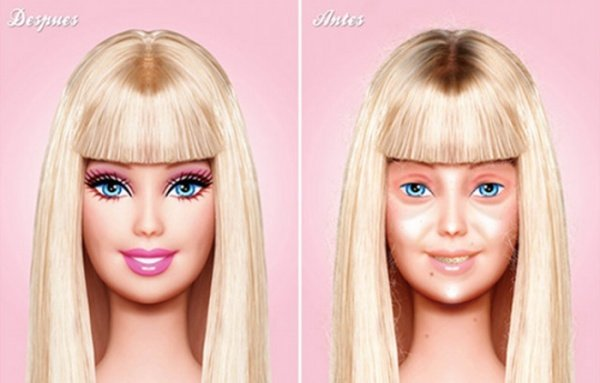 No Makeup Barbie