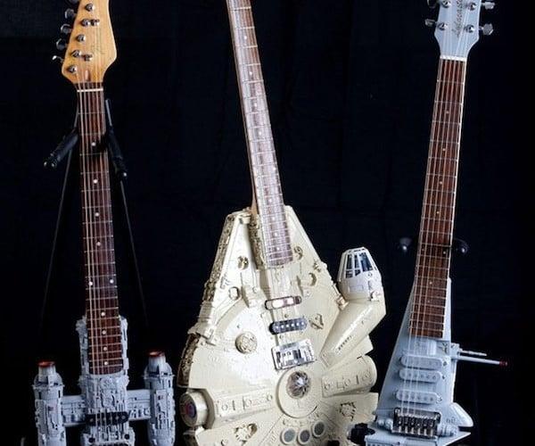 Star Wars Spaceship Guitars Rock the Cantina