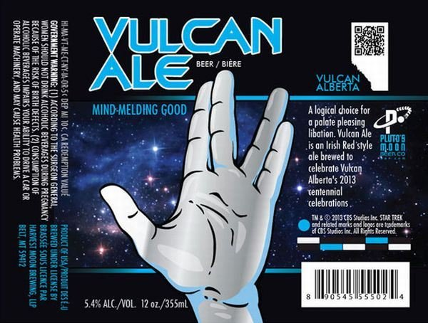 Vulcan Ale: Brewed with Cold Hard Logic