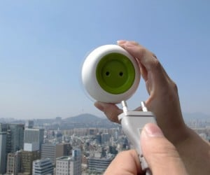 Solar Window Socket: Stick up and Plug in