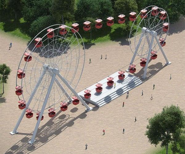 Attraktsionus Double Ferris Wheel: Twice the Fun, Possibly Twice as Dangerous