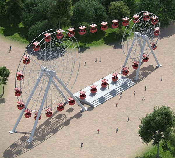 attraktsionus double ferris wheel