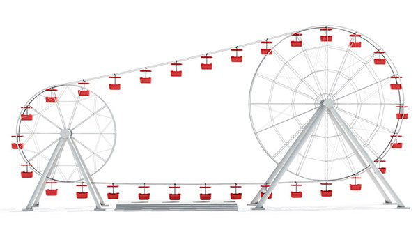 attraktsionus double ferris wheel 1