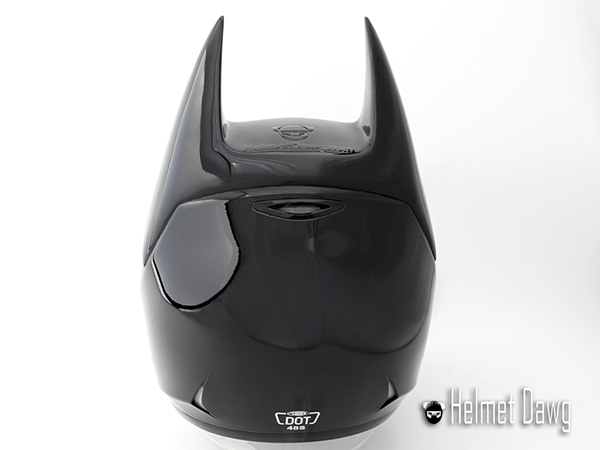 Dark As Night Motorcycle Helmet Brings Out The Bat In The