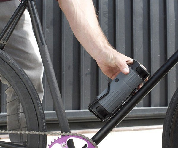 Scosche boomBOTTLE Bluetooth Bicycle Speaker Loves to Go for a Ride