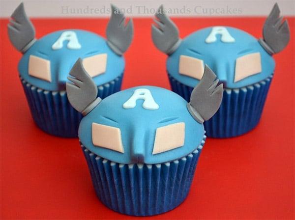 Captain America Cupcakes: Cuptain Americake - Technabob