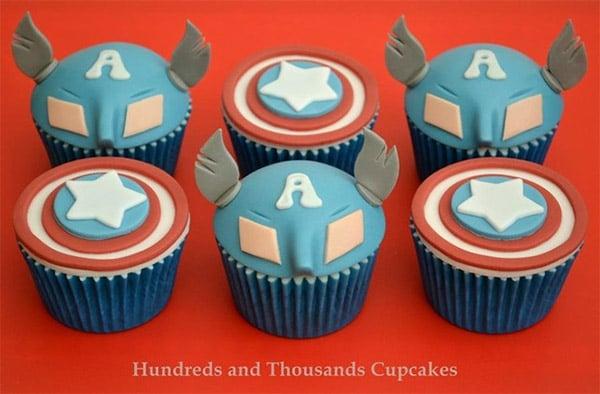 captain america cupcakes 3