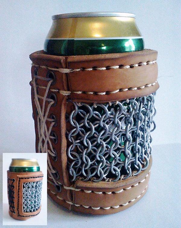 chainmail beer koozie