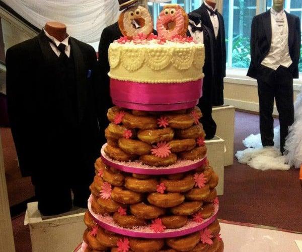 Dunkin Donut Wedding Cake: The Cheapest, Best-est Wedding Cake Ever