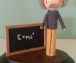 einstein clothespin doll 300x250
