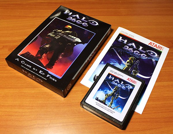 halo 2600 atari game cartridge by ed fries and atari age