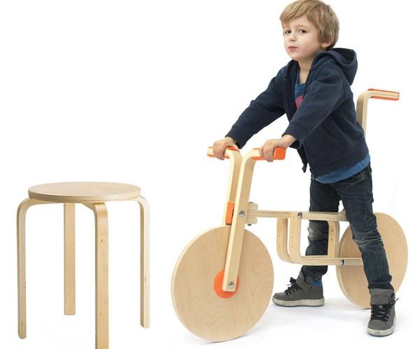 Guys Hack IKEA Furniture into a Kid's Bike: Should be Named BIKKLO