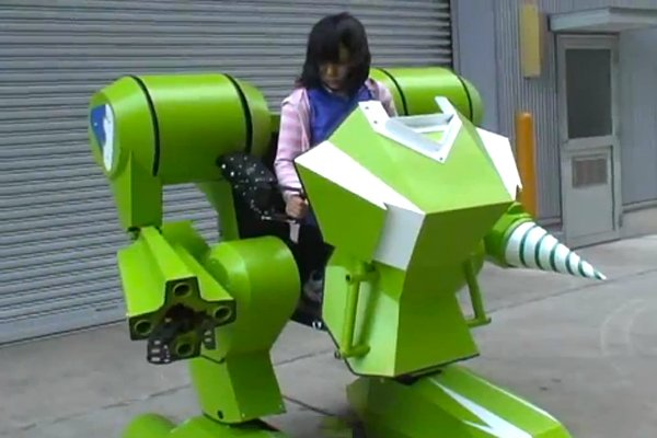 kids walker nt exoskeleton mech by Sakakibara Kikai