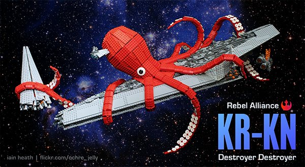 Giant Space Octopus: KR-KN LEGO Star Wars Space Destroyer