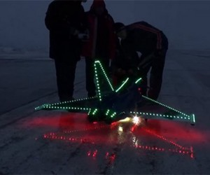 LED Covered R/C Jet Lights up the Night