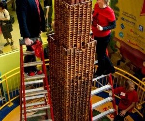 Lincoln Log Tower Sets World Record for Height and Pieces