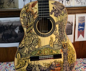 Lord of the Rings Guitar Illustrated with Sharpies