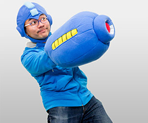Mega Man Mega Buster & Helmet Plushies: Arm & Head Upgrade