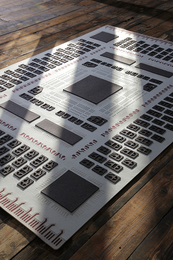 Memory Rug Inspired By Circuit Boards Soft Hardware