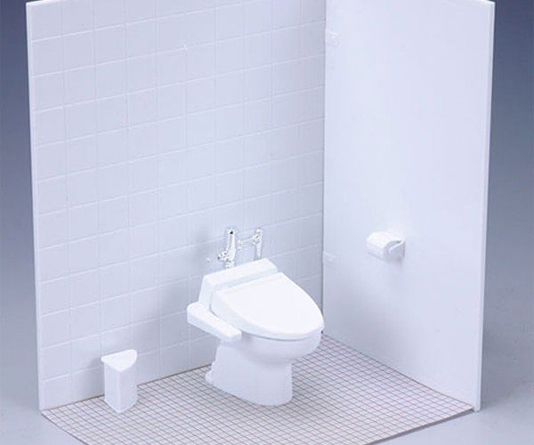 Miniature Restroom for Action Figures: Everyone Poops