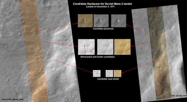 Mars Reconnaissance Orbiter Snaps Pics of What May Be 1971 Soviet Mars Lander