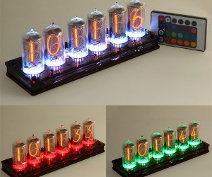 Nixie/LED Clock Combines Old School and New School Lighting Tech