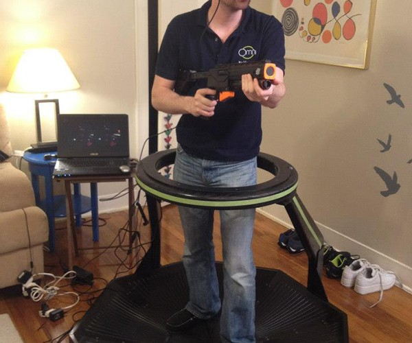 Omni VR Treadmill Interface: Work Hard & Play Hard at the Same Time