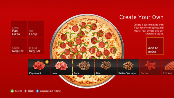 Pizza Hut Xbox 360 App Aims at the Lazy, Hungry Gamer