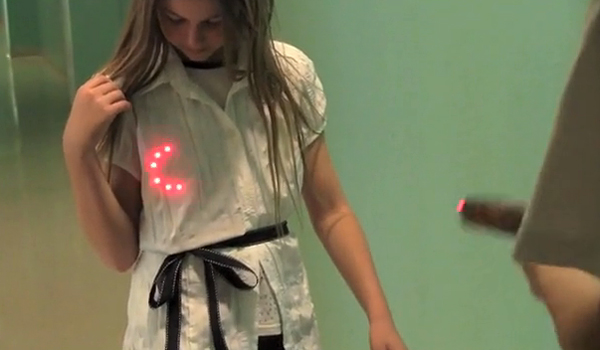 portable laser tag target by thoughtstem