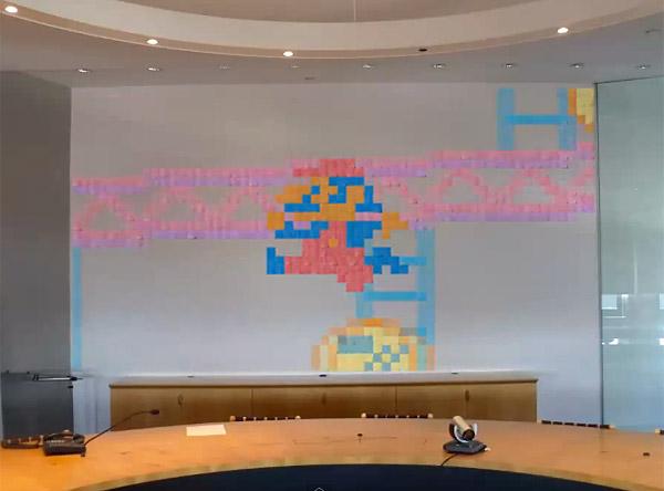 Stop Motion Post-it Arcade Animation: Sticky Pixels