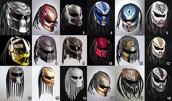 predator helmet options