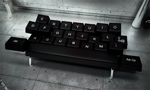 qwerty keyboard sofa 1