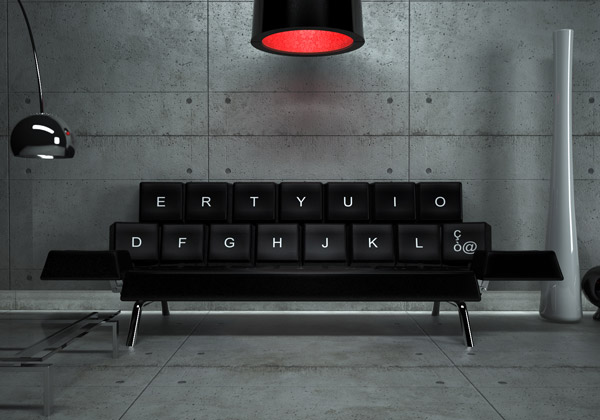 qwerty keyboard sofa 2