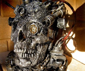 Cyberpunk Robot Skull: the Borg Assimilate the Walking Dead