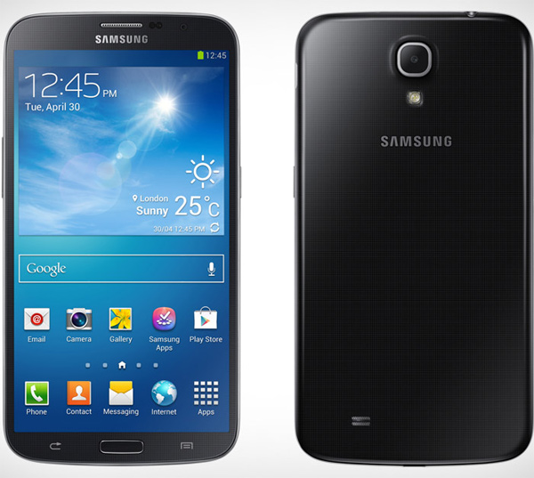 samsung galaxy mega front photo
