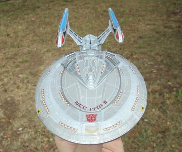 Custom Star Trek Transformer Action Figure: Enterprise, Roll Out!